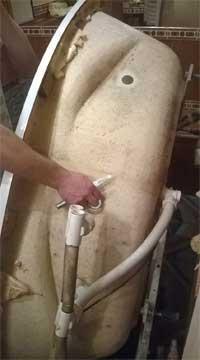 демонтаж ванны для реставрации